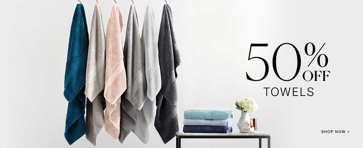 50% off towels