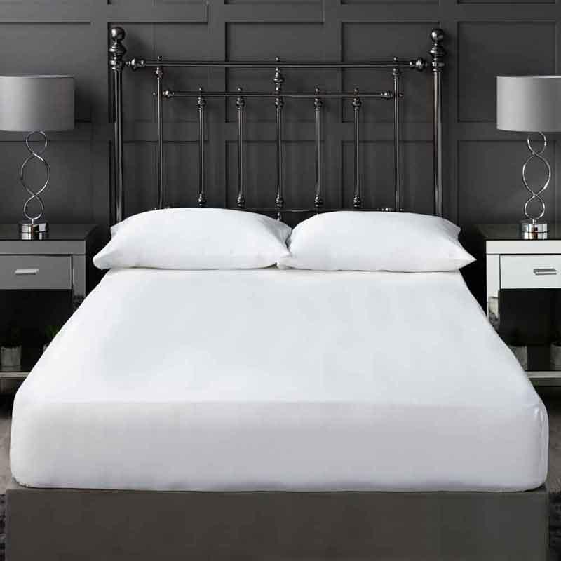 White 300 Thread Count Cotton Sateen Bedding