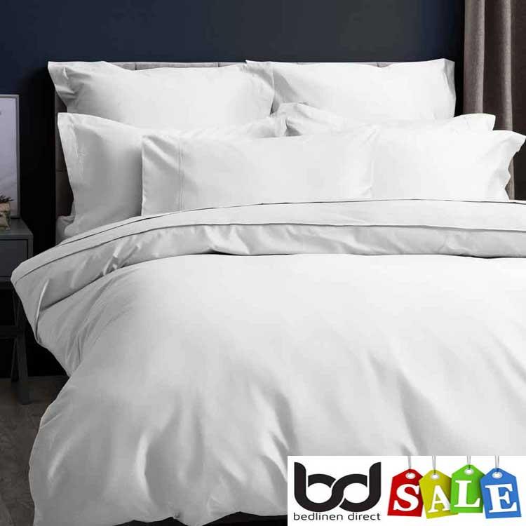 White 600 Thread Count Cotton Sateen Bedding
