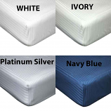 540 Thread Count Satin Stripe Cotton Fitted Sheets