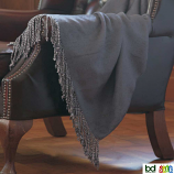Belledorm Grey Bamboo Throw