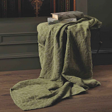 Design Port Denzel Olive Green Throw