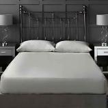 Platinum Silver 300 Thread Count Cotton Sateen Bedding