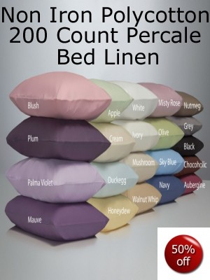 Non Iron Bed Linen Sale Now On